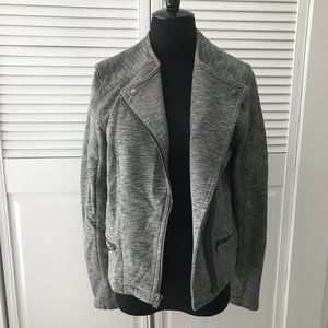 GAP Women's Fit Moto Jacket - Dark Gray - L